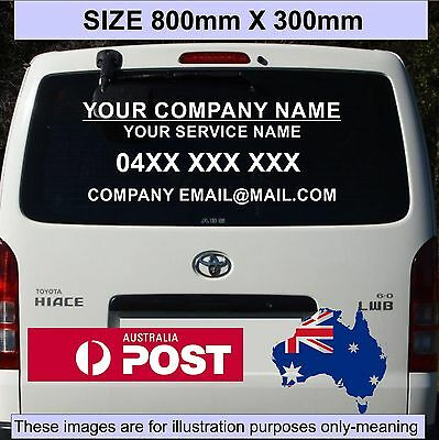 Business Sticker customized Name Lettering vinyl sign for car van ute 80x30cm