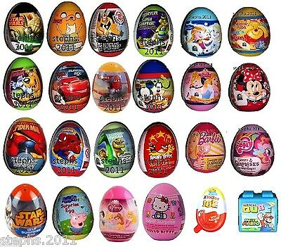 Surprise Eggs 10 for 7.99  Kinder Joy Frozen Peppa Disney Good Dinosaur Turtles