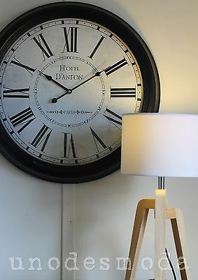 62CM PARIS print WALL CLOCK Hotel Danton FRENCH DESIGNER Modern Home Decor retro