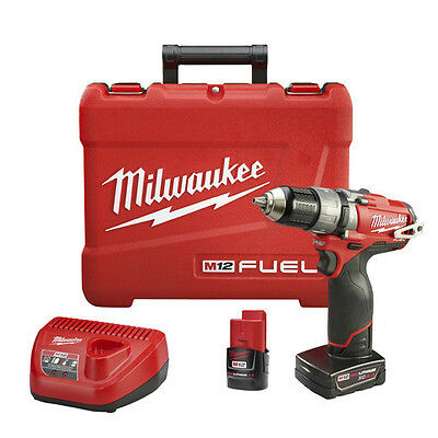 "Milwaukee 2404-22 M12 FUEL™ 1/2"" Brushless Hammer Drill/Driver Kit with Case"