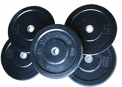 OFW 118 KG / 260 lb Bumper Plate Low Bounce Weight Lifting Crossfit Plates Set