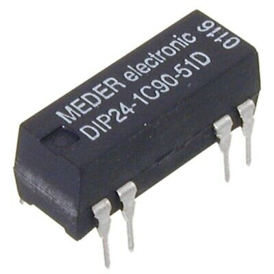 DIP241C9051D Reed-Relais 24V= 1xUM 2000 Ohm mit Diode parallel MEDER