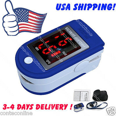 USA SHIPPING! CE&FDA Pulse Finger Oximeter Blood Oxygen SPO2 Monitor, with case,