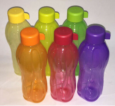 TUPPERWARE  Aqua Safe ( 500 ml ) 16oz Water Bottle  ( Set of 4 Bottles ) - NEW