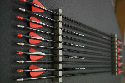 "12 X 31inch CARBON ARROWS 2"" BLASER, BOHNING NOCK COMPOUND OR RECURVE BOW TARGET"