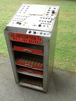 Drug Store Mercury Tube Tester Model 201 free standing Self Service as found