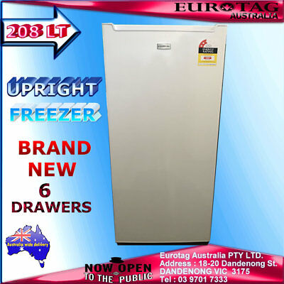 New Eurotag 208 Lt Upright Vertical Freezer    Brand New 1 Year  Warranty