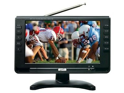 "Supersonic SC-499 9"" LCD Portable Rechargeable Digital TV/Television +Remote"