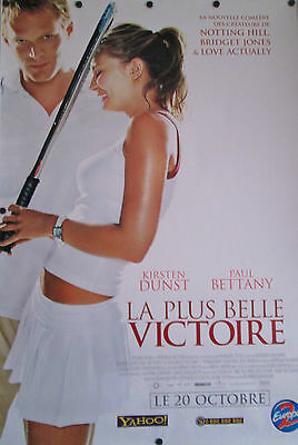"""Wimbledon Original French Movie Poster Kirsten Dunst D/S Rolled 68 1/2"""" X 46 1/2"""