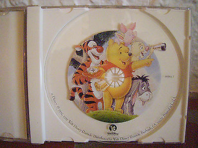 Disney Promo, Collectible Disney 3 song clear CD  with Pooh and friends artwork