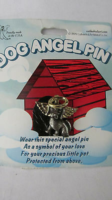 Dog Angel Pin Guardian Angel Lapel Pin Gold & Pewter Toned Dog