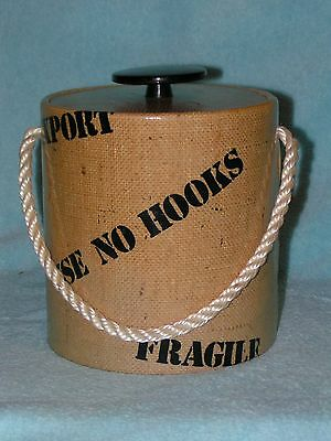 ICE BUCKET Old Burlap Cargo Ship Container from the Docks Too COOL!!
