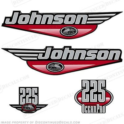 Johnson 1999-2000 OceanPro 225hp Outboard Decal Kit - You Choose Color! Decals