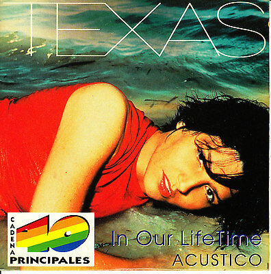 CD SINGLE promo TEXAS in our lifetime SPANISH rare 1999 2-TRACKS ACOUSTIC radio