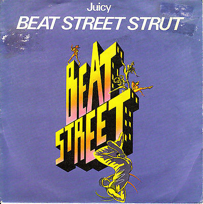"7"" promo JUICY beat street strut SPANISH VINYL 1984"