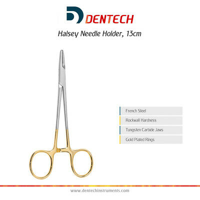 Halsey Needle Holder 13 Cm Dental Surgical Forceps Instrument Tungsten Carbide