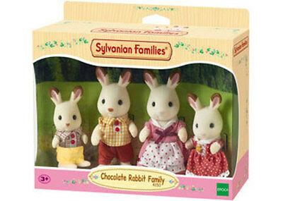 Sylvanian Families Chocolate Rabbit Family SF4150