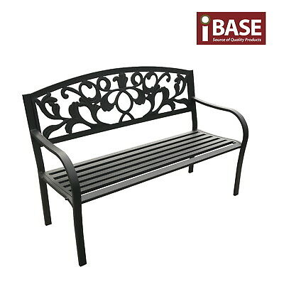 ALU / STEEL Bench Outdoor Garden Patio Park Chair Seat Vintage Aluminium Free