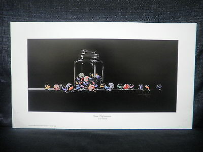 """Don Grzybowski """"Game Performances"""" Marbles Jar Open Edition Lithograph"""
