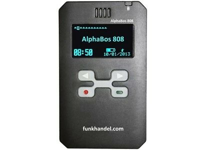 Digitaler Funkmeldeempfänger - Alphabos 808  Black - Incl. Ladestation !!