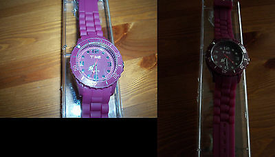 "♥♥♥ Montre neuve ""Time exclusive""  Bordeau ♥♥♥"