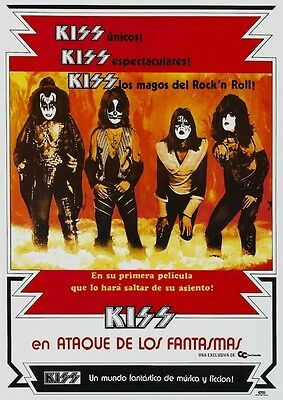 KISS Poster Phantom of the Park AMAZING IMAGE Columbia Spanish South America