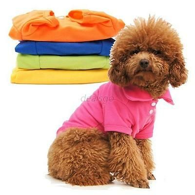 Lovely Dog Pet Doggy Apparel Dog POLO Shirt Puppy Clothes T-Shirts Size XS S M L