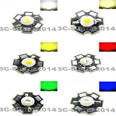 5-20pcs 3w with board star high power Six kinds of color LED light