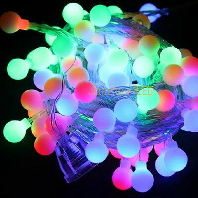 Christmas 10M Colorful RGB Fairy LED String Party Twinkle Ball Light 100LED 220V