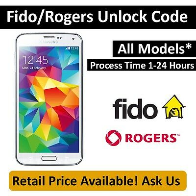 Unlock Code for Samsung Galaxy Note 3 SM-N900 Fido & Rogers FAST