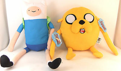 """Adventure Time 12"""" Plush - Choose From Jake Or Finn - Brand New With Tags"""