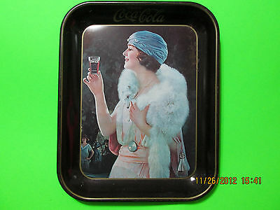 Vintage Coca-Cola Tray with a Flapper Girl from 1925 / copyright 1973