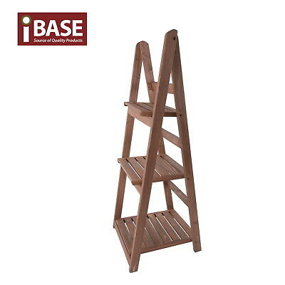 3 Tier Rack Wooden Garden Home Plant Pot Shelf Stand Storage Outdoor Timber Free