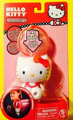 NEW  HELLO KITTY CHARMLITE ATTACHES CLIP TO GIRLS BACKPACK Red