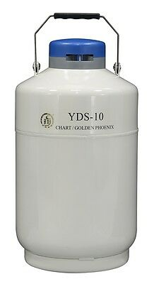 10 L Liquid Nitrogen Tank Cryogenic LN2 Container Dewar with Strap YDS-10