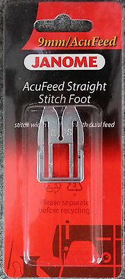 Janome AcuFeed Straight Stitch Foot - 9mm Perfect for Patchwork Horizon Quilting