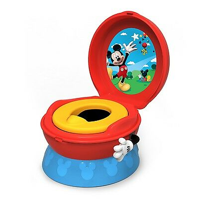 TOMY Disney Mickey Mouse 3-in-1 Red Blue Boys Potty Chair Training Seat - Y9909