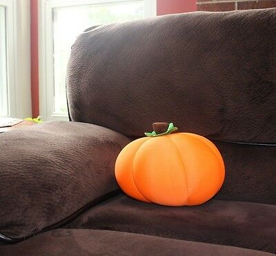 Orange Pumpkin Halloween Fall Decoration Decor Microbead Cushion Throw Pillow