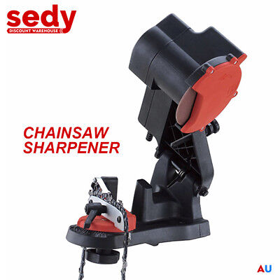 Electric Chainsaw Sharpener Chain Saw Bench Mount File Grinder Tools Power
