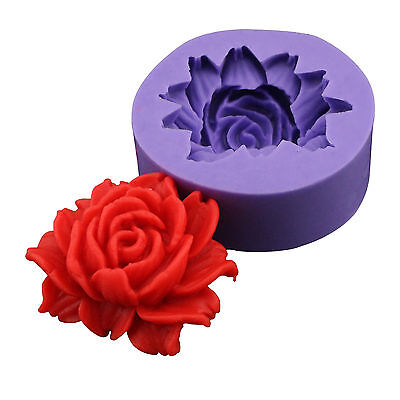 3D Rose Flower Chocolate Fondant Cake Cupcake Soap Decorating Silicone Mold Tool