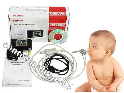 Child Infant Pulse Oximeter,24Hours Record Blood Oxygen SPO2 monitor + software