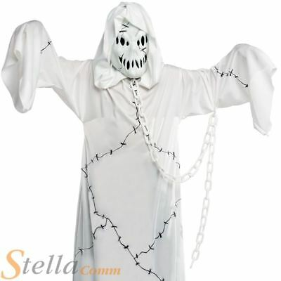 Boys Ghost Costume Cool Ghoul Zombie Halloween Fancy Dress Kids Child Outfit