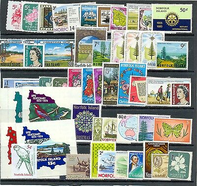 Norfolk Island collection 50 all different mainly mnh