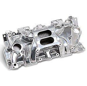 Weiand 8120P Street Warrior Aluminum Intake Manifold Small Block Chevy 262-400
