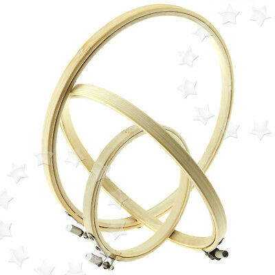 4,6,& 8 Inch Round Bamboo Hoops/rings For Embroidery Cross Stitch Sewing