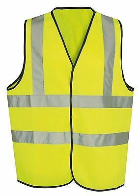 Hi Vis Yellow High Viz Visibility Waistcoat Safety Vest Jacket EN471 Work Size