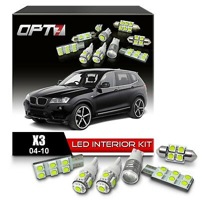 OPT7 16pc Interior LED Light Bulbs Package Kit for 04-10 BMW X3 CanBus ¦ White