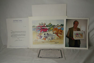 Artwork By Carl Barks with Signature and Numbered