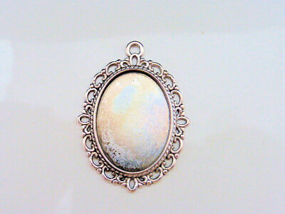 5 x Oval Cabochon Base Settings Antique Silver 38mm x 30mm LF NF Findings Trays