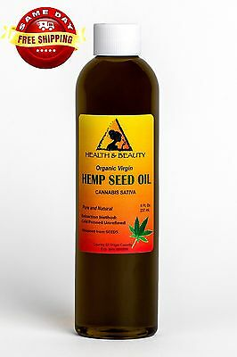 Hemp Seed Oil Unrefined Organic Carrier Virgin Cold Pressed Raw Pure 8 Oz